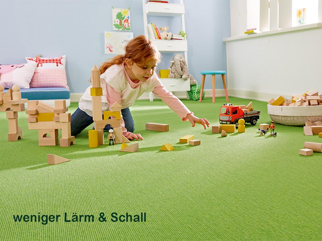 Mehr Ruhe für Klein und Groß: Teppich reduziert Lärm und Schall