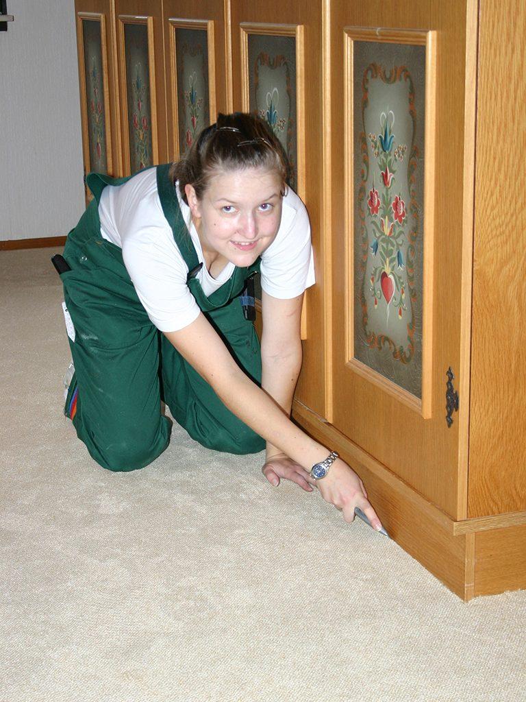 Teppichboden-Velours-Feinarbeiten