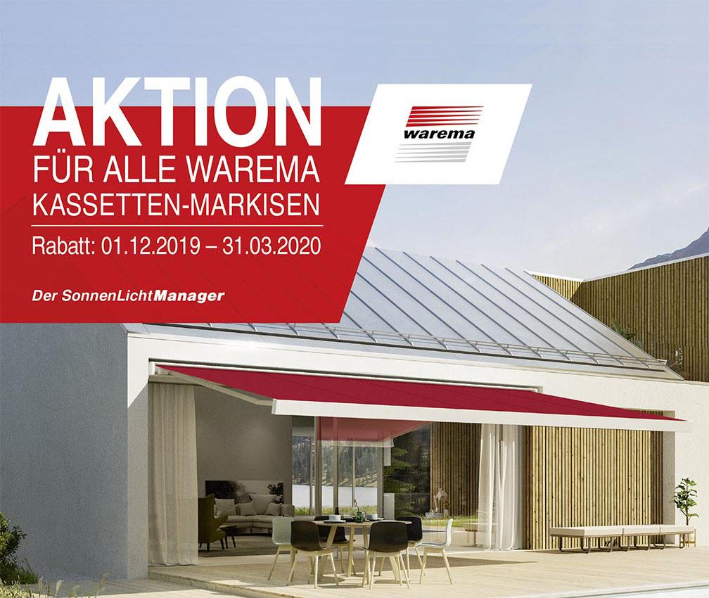 Warema Kassetten-Markisen Winter-Aktionspreis