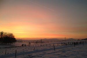 Schneelandschaft im Siebengebirge